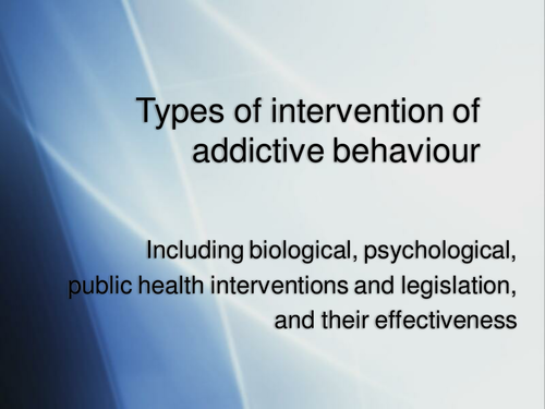 Interventions in Addiction