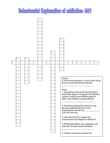 Behaviour Crossword