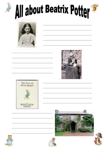 Beatrix Potter Worksheets : Beatrix potter by ruthbentham teaching resources tes