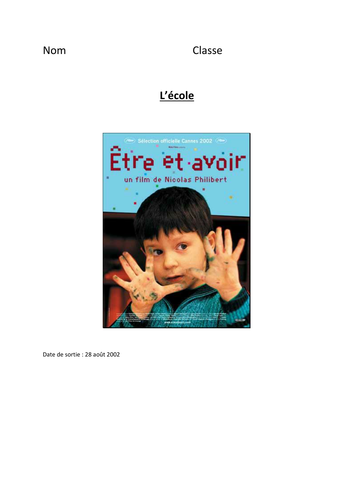 Etre et Avoir - film by gdendaletche | Teaching Resources