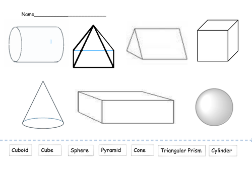 What am I Naming 3d shapes by Miss Mac Teaching Resources TES – Solid Shapes Worksheet