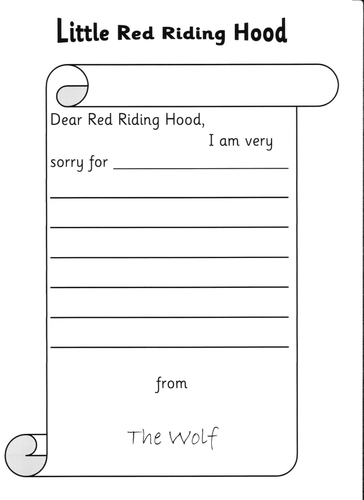 Letter to Red Riding Hood | Teaching Resources
