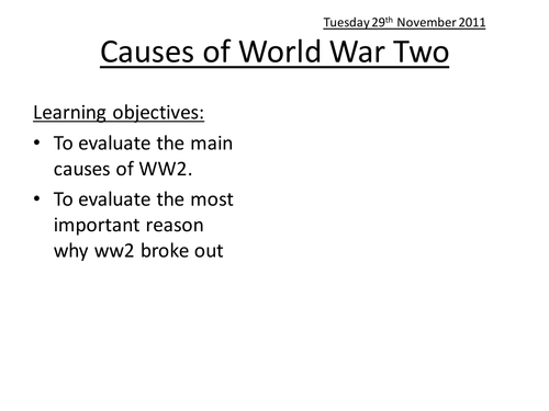 The Road to World War Two