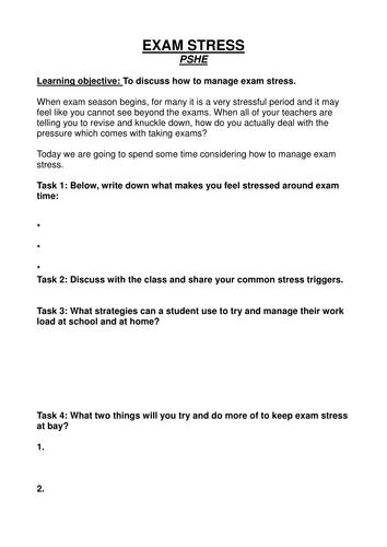 Gcse Stress Busting Resources Tes