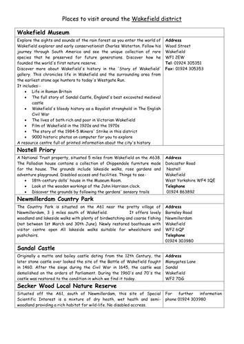 School trip ideas in Yorkshire