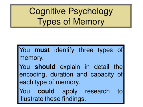 types of memory in psychology