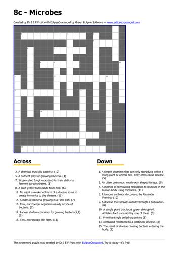 Microbes crossword