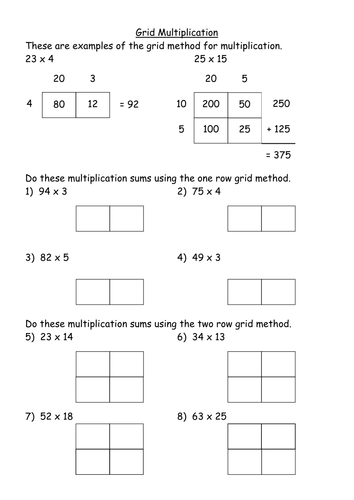 ks3 worksheet level 4 2x1 grid multiplication by mrbuckton4maths teaching resources. Black Bedroom Furniture Sets. Home Design Ideas