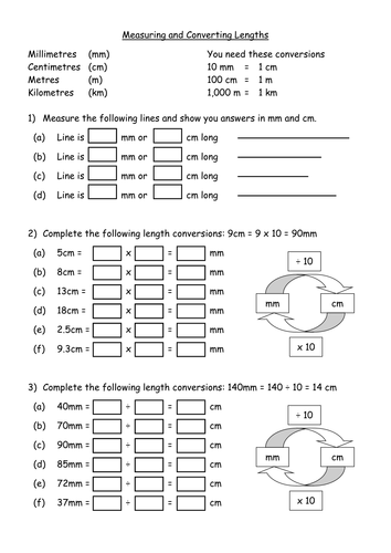 maths ks3 worksheet converting metric length by mrbuckton4maths teaching resources tes. Black Bedroom Furniture Sets. Home Design Ideas