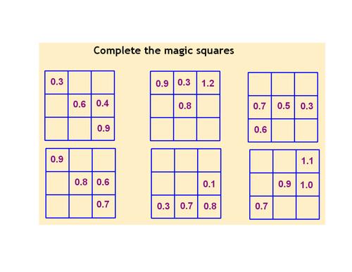 ks4 worksheet l5 decimal magic squares by mrbuckton4maths teaching resources tes. Black Bedroom Furniture Sets. Home Design Ideas