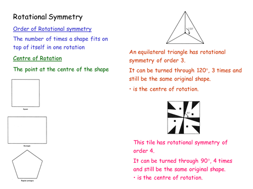 GCSE Maths Rotational Symmetry lesson resources by – Rotational Symmetry Worksheets