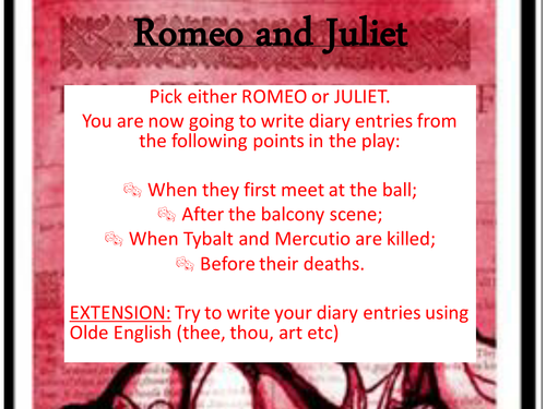 romeo and juliet diary entry essays Romeo diary entry essay for mba zapt list of semes and uk essays a well fol car essay 2016 calendar romeo and juliet 20 lines essay short essay on.
