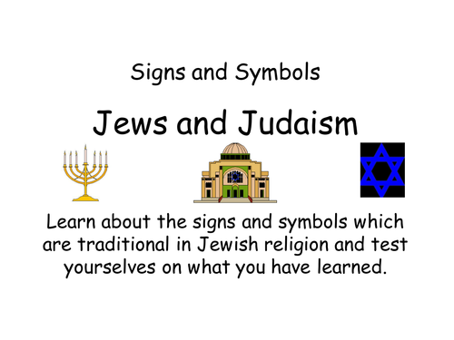 Judaism Symbols By Jodip Teaching Resources Tes