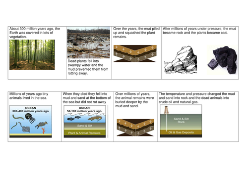 Fossil fuel formation card sort by mstones Teaching Resources TES – Fossil Fuels Worksheet
