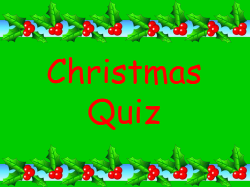 Fun Christmas Quiz Ks2 With 5 Different Rounds Teaching Resources