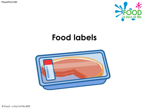 Cooking - Food Labels PowerPoint