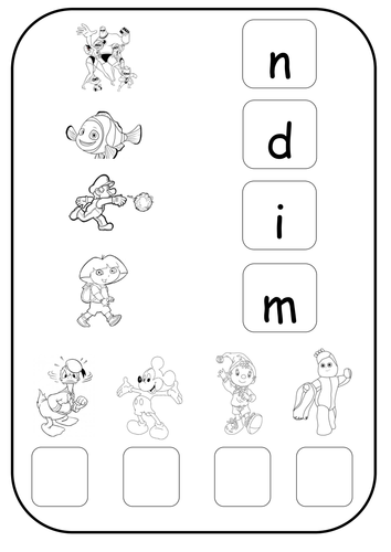 Phase 2 Phonics Worksheet I N M D Teaching Resources