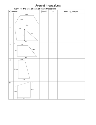 maths worksheet area of trapeziums alternative by tristanjones teaching resources tes. Black Bedroom Furniture Sets. Home Design Ideas