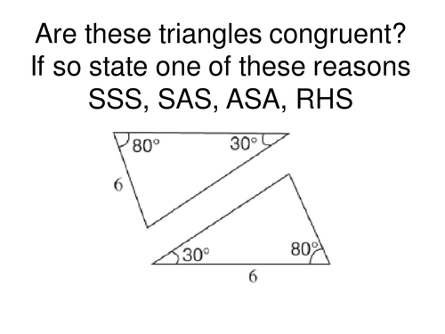 Congruent Triangles by Tristanjones - Teaching Resources - Tes