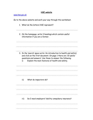 Safety, waste and tools - Worksheet by NGfLCymru - Teaching ...