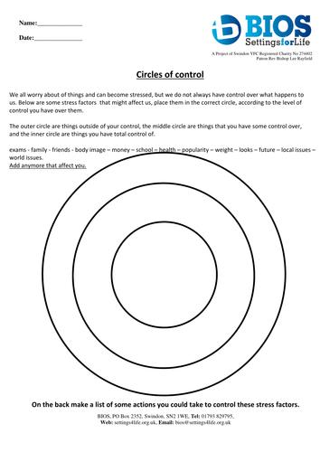 Circles Of Control 6159307 on Kindergarten Curriculum