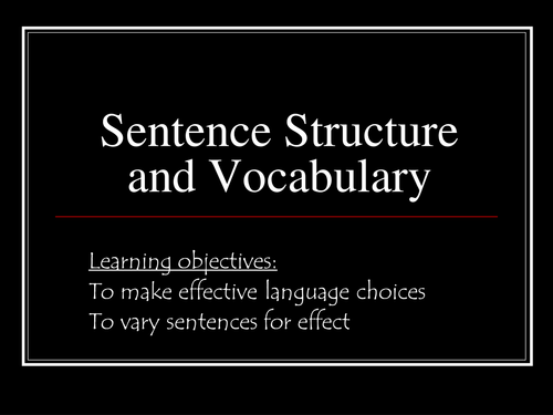 Worksheets Improving Sentence Structure Worksheets creative writing sentence structure and vocab by rec208 teaching resources tes