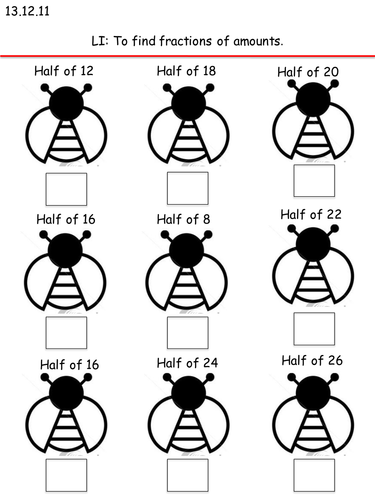 ladybirds halving sheet by amygaunt teaching resources tes. Black Bedroom Furniture Sets. Home Design Ideas