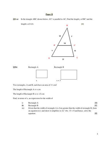 Paper II Mathematics