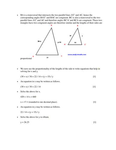 Paper II Mathematics Answers