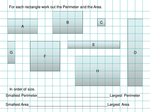 perimeter formula for rectangle within rectangle maths area perimeter of rectangles starter by tristanjones