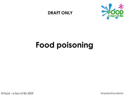 Food Hygiene and Safety - Food Poisoning