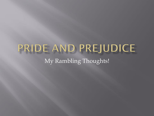 pride and prejudice narrative techniques essay Introduction we seem to accept pride and prejudice however written narrative is just as unaware of the succession of separate sentences as the viewer is.