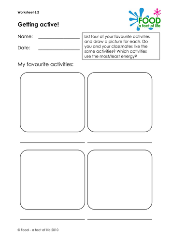 energy balance my food diary worksheet by uk teaching resources tes. Black Bedroom Furniture Sets. Home Design Ideas