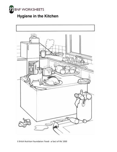 Hygiene in the Kitchen - Worksheets