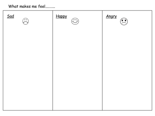 Feelings worksheet by claireh1039 Teaching Resources TES – Feelings Worksheets