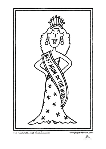 Jacqueline Wilson Colouring Sheets by alexandramtaylor