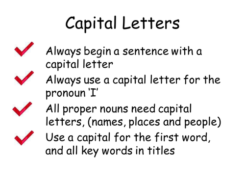 capital letters and full stops by head in a book teaching resources tes