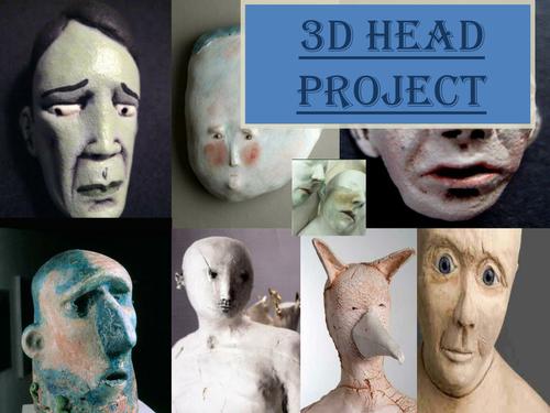 3D HEADS/ SCULPTURES- BTEC