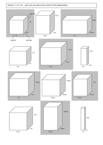 volume worksheet by winterpants teaching resources tes. Black Bedroom Furniture Sets. Home Design Ideas