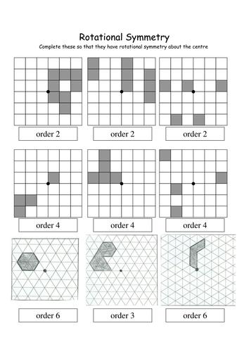 GCSE/KS3 Rotational Symmetry Worksheet by Tristanjones - Teaching ...