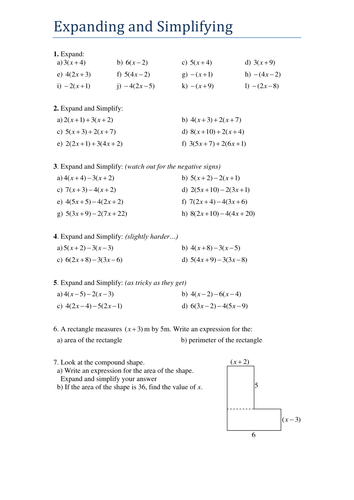 GCSE - Expanding and Simplifying - Algebra by Tristanjones ...