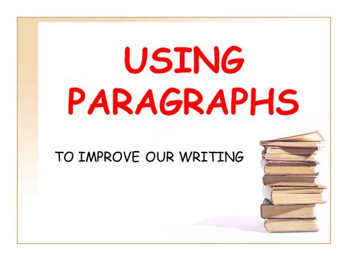 Using paragraphs