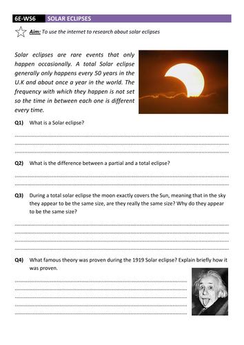 Solar Eclipse Worksheet DCJSSS
