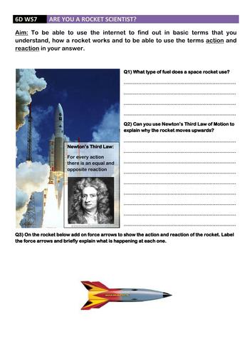 How Do Rockets Work Questions Ideal Homework
