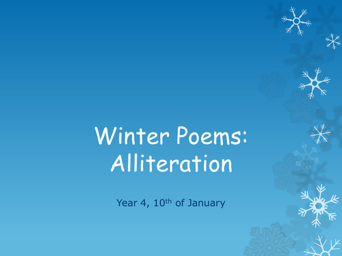winter poems alliteration by cherrie163 teaching resources. Black Bedroom Furniture Sets. Home Design Ideas