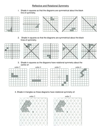 Maths: Symmetry worksheet - challenging by Tristanjones - Teaching ...