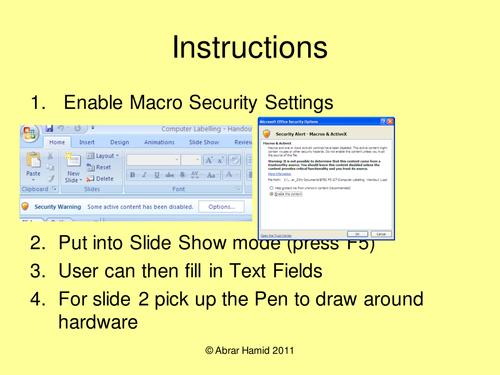 Interactive Computer Labelling Handout