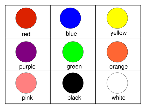 Colour Flashcards 6162945 on Circle Shapes To Print