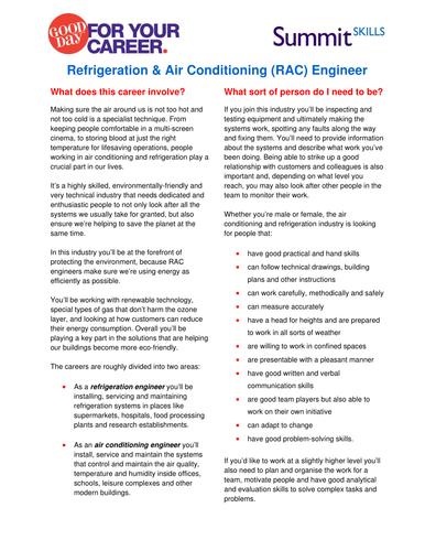 Refrigeration & Air Conditioning (RAC) Job Profile