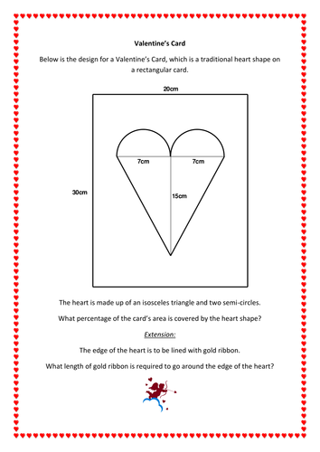 Maths: Valentine's Card - Area and Perimeter